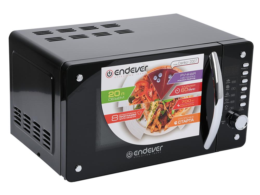 Микроволновая печь ENDEVER Danko 2007 чёрный 700 Вт, 20 л фото