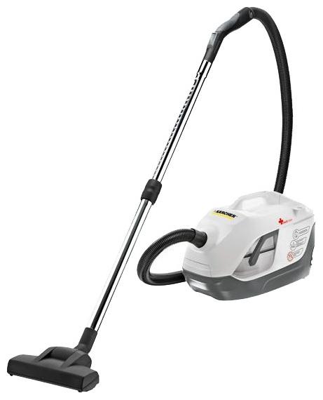 Пылесос Karcher DS 6.000 Mediclean сухая уборка, с аквафильтром, без мешка для сбора пыли, работа от сети, потребляемая мощность 650 Вт, вес 7.5 кг