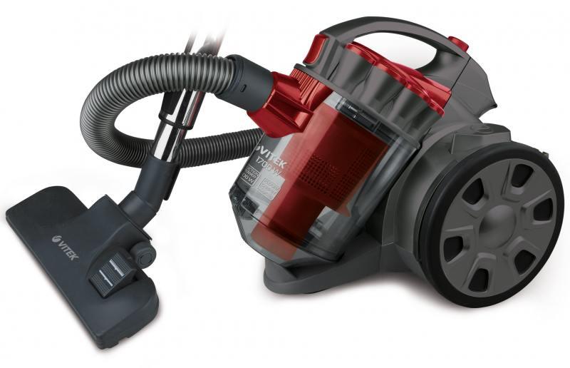 Пылесос Vitek VT-1895 (R) Красный 1700 Вт, циклонный фильтр, 2 л цена и фото