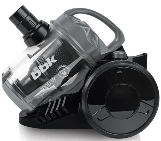 Пылесос BBK BV1503 без мешка сухая уборка 2000Вт черный серый пылесос bbk bv 2512 сухая уборка белый черный