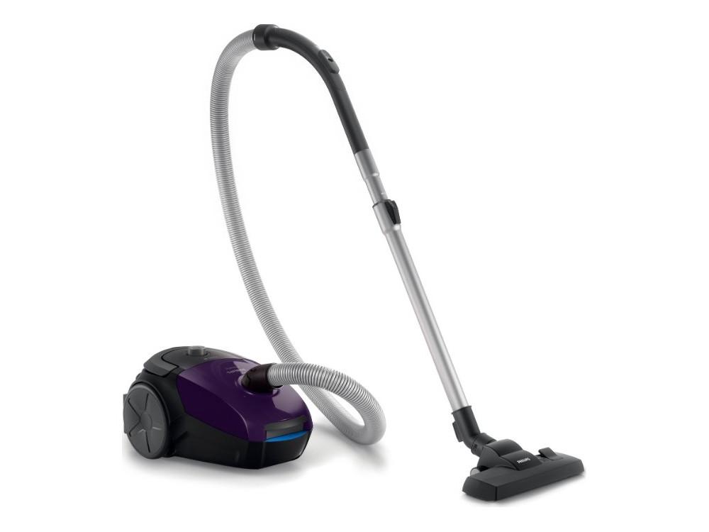 цена на Пылесос Philips FC8295/01 PowerGo, 2000/350Вт, с мешком, набор насадок, фиолетовый/черный