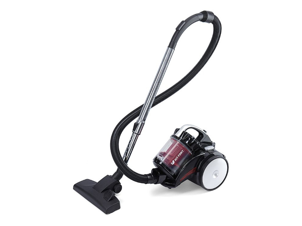 Пылесос KITFORT КТ-522-1 сухая уборка красный черный цена и фото
