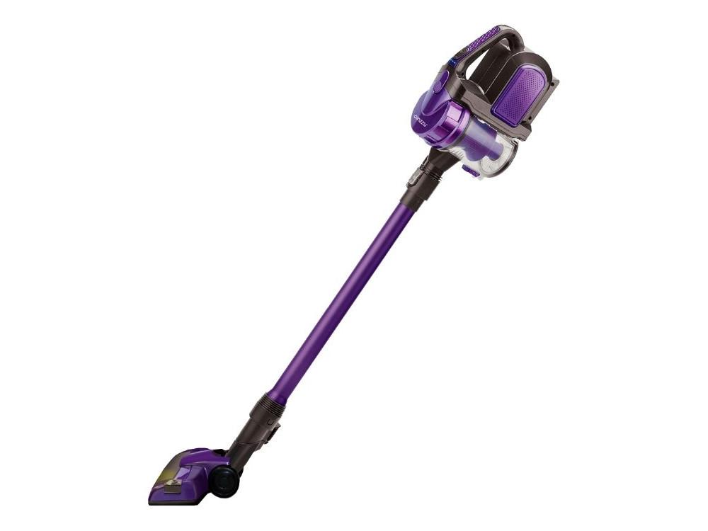 цена на Пылесос вертикальный+ручной Ginzzu VS401, аккум. 2200 мАч., без мешка, фиолетовый