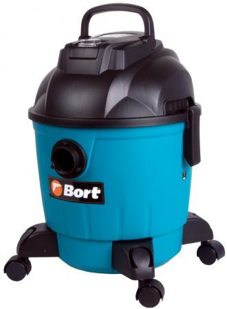 Промышленный пылесос Bort BSS-1218 Черный/синий 1200 Вт, контейнер, 18 л, 78 дБ