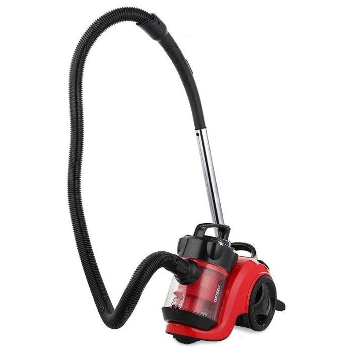 цена на Пылесос Ginzzu VS420, 1700/275Вт, без мешка, черный/красный