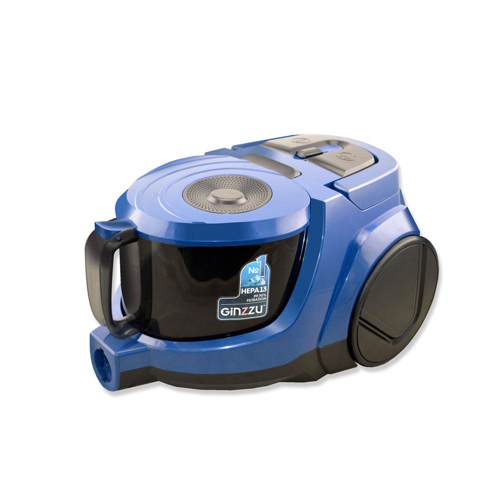 лучшая цена Пылесос Ginzzu VS438 Синий 2000 Вт, циклонный фильтр, 3,5 л, 77 дБ