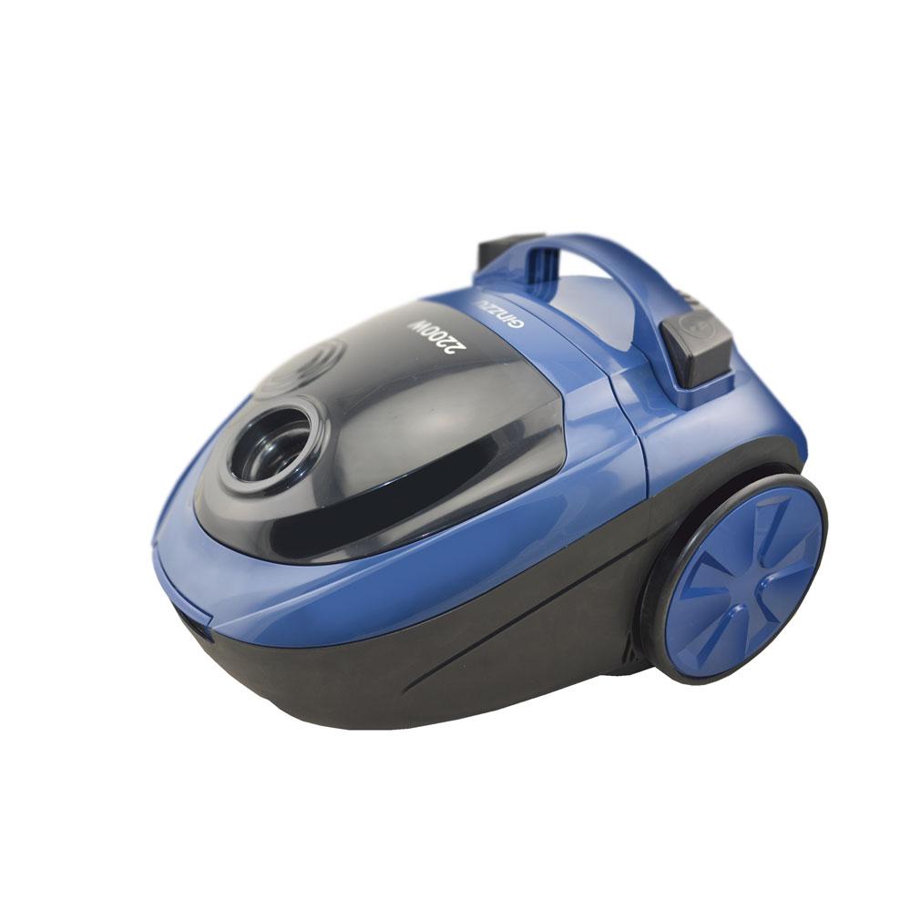 Пылесос Ginzzu VS452 Синий 2200 Вт, мешок/контейнер, 2,5 л, 72 дБ