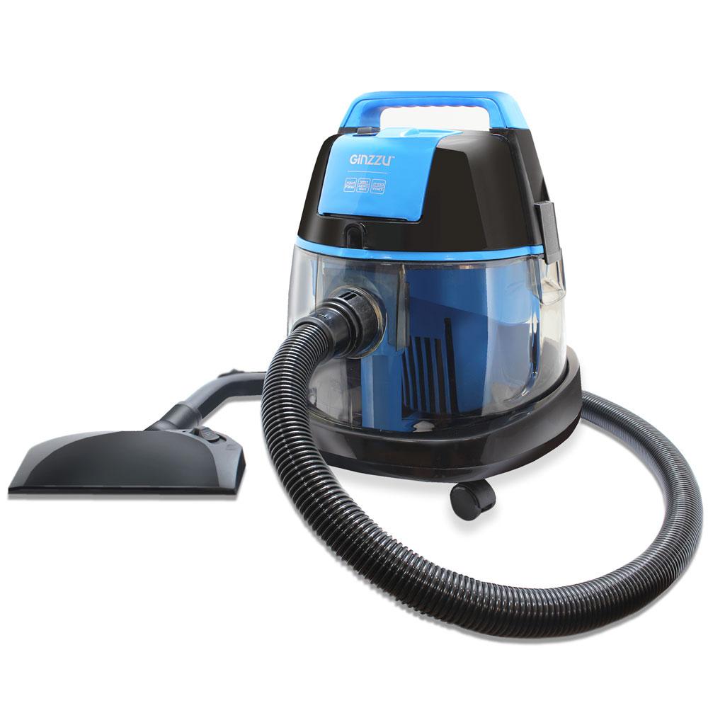 цена на Пылесос Ginzzu VS521 Синий 2100 Вт, аквафильтр, 18 л