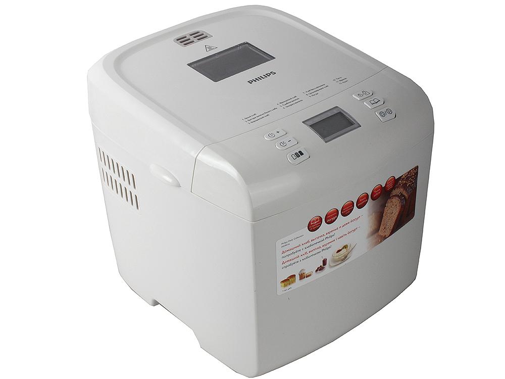 лучшая цена Хлебопечка Philips HD9016/30, выпечка 1кг, 12 программ, белый