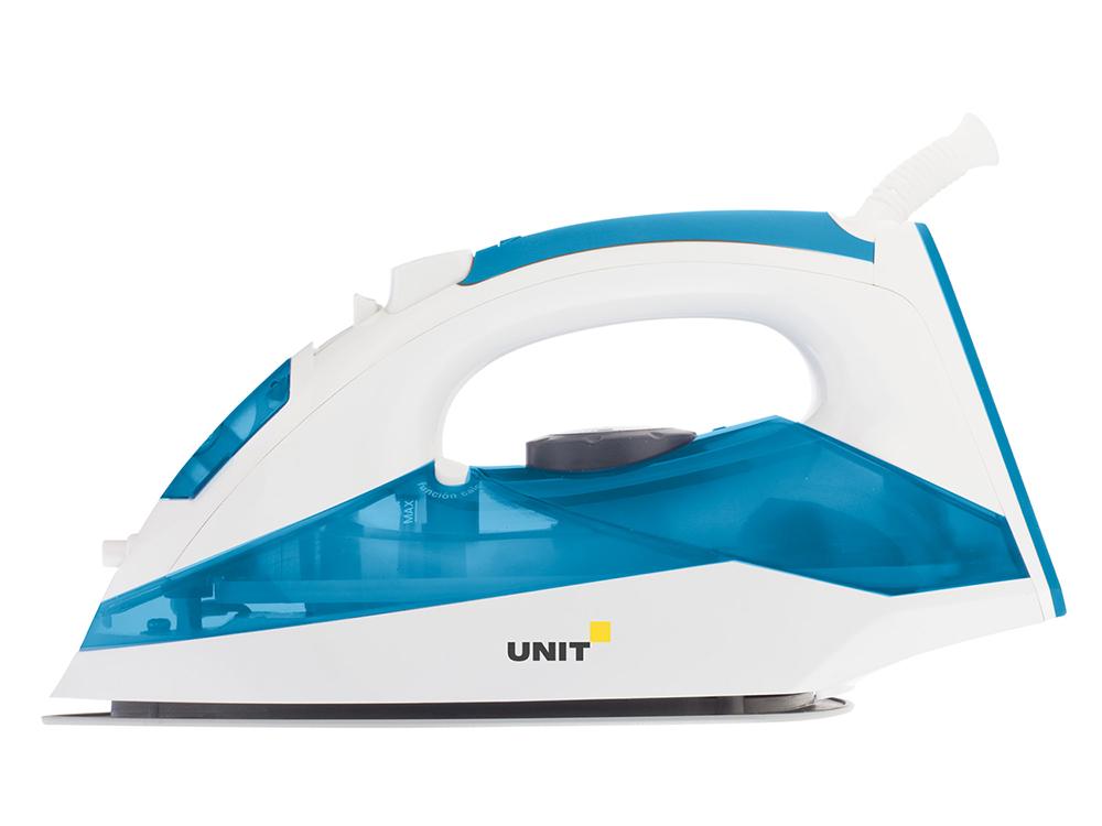 лучшая цена Утюг UNIT USI-281, Цвет - Синий; 2200Вт, Подошва - Керамическое покрытие, самоочистка, анти-накипь, анти-капля, вертикальное отпаривание