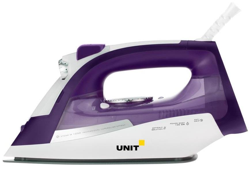 лучшая цена Утюг UNIT USI-284, Цвет - Фиолетовый; 2200Вт, Подошва - Керамическое покрытие, самоочистка, анти-накипь, анти-капля, вертикальное отпаривание