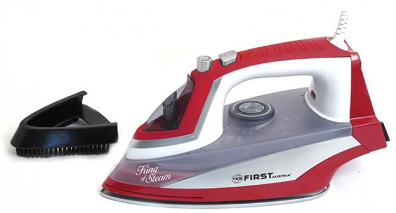 Утюг First FA-5633-3-RE, 2200Вт, беспроводной, красный тепловентилятор first fa 5571 8 re 2000 вт красный
