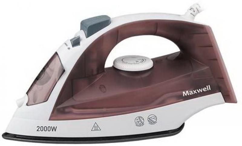 Утюг Maxwell MW-3049(ВN) коричневый 2000 Вт., самоочистка, вертикальное отпаривание maxwell mw 3049