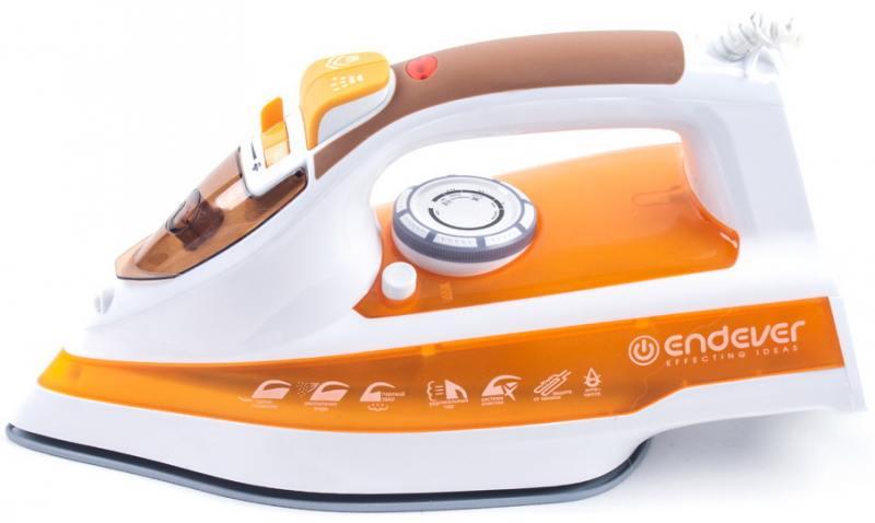 Утюг ENDEVER Skysteam-716 2400Вт белый оранжевый цена