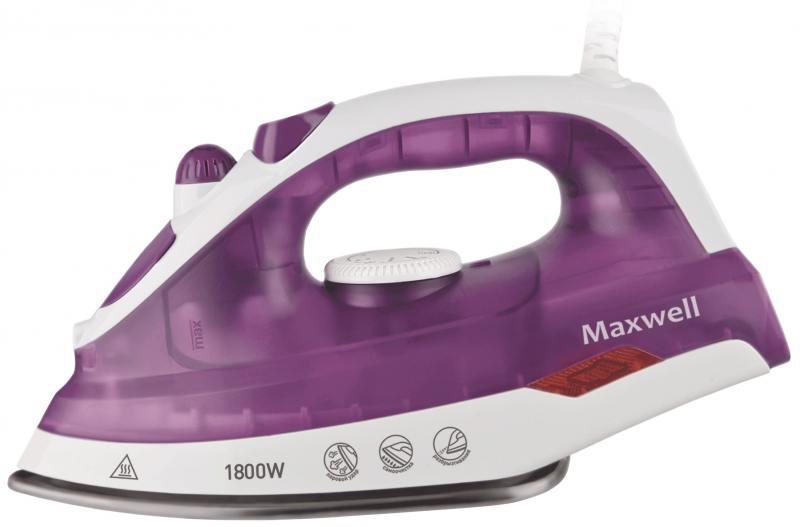 Утюг Maxwell MW-3042(VT) 1800Вт белый сиреневый утюг maxwell mw 3057 vt