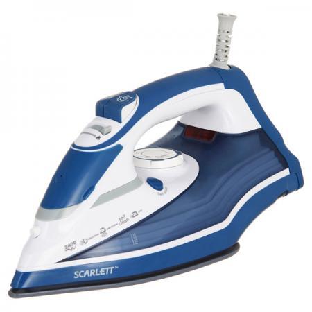 цена на Утюг SCARLETT SC-SI30K17 Blue 2400 Вт, 300 мл, 115 г/мин