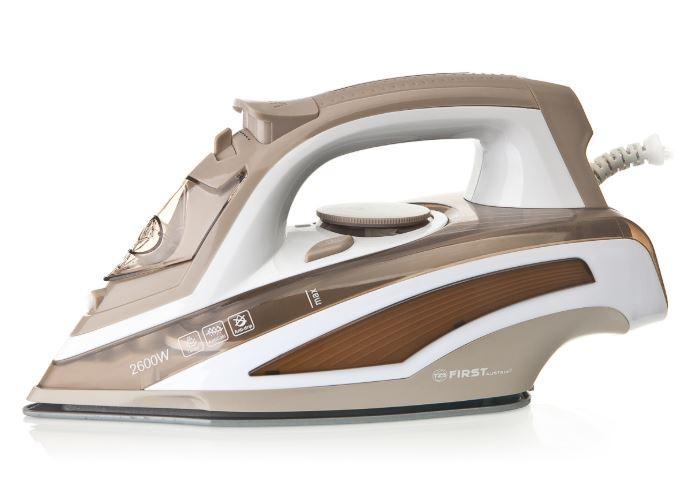 все цены на Утюг First FA-5628-7 Brown 2600 Вт, керамика, 340 мл, пар/сух. глажка, разбрызгивание, антикапля онлайн