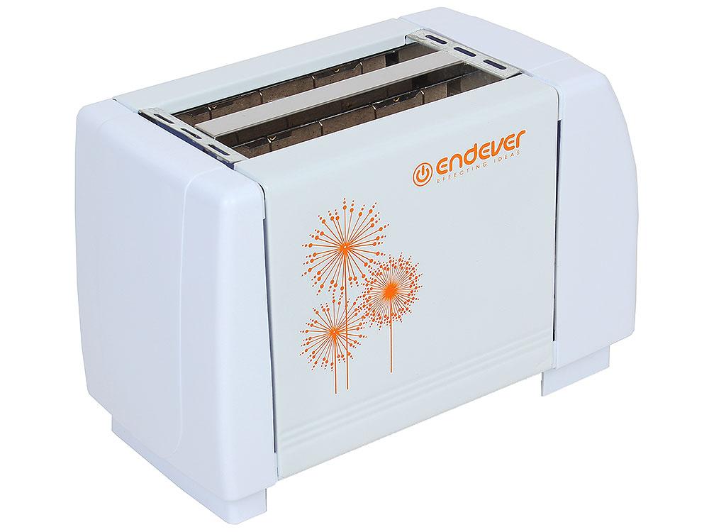 лучшая цена Тостер электрический Endever Skyline ST-109 850 Вт, 7 регулировок поджаривания, 2 отсека, механическое управление, автоматический выброс тостов