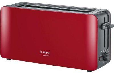 лучшая цена Тостер Bosch TAT 6A004 красный
