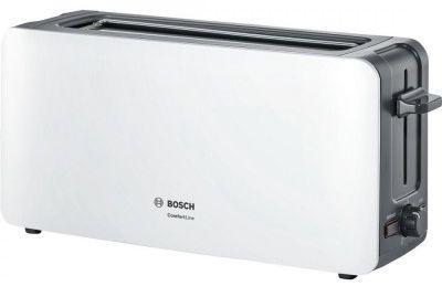 Тостер Bosch TAT 6A001 белый тостер bosch tat 3a011