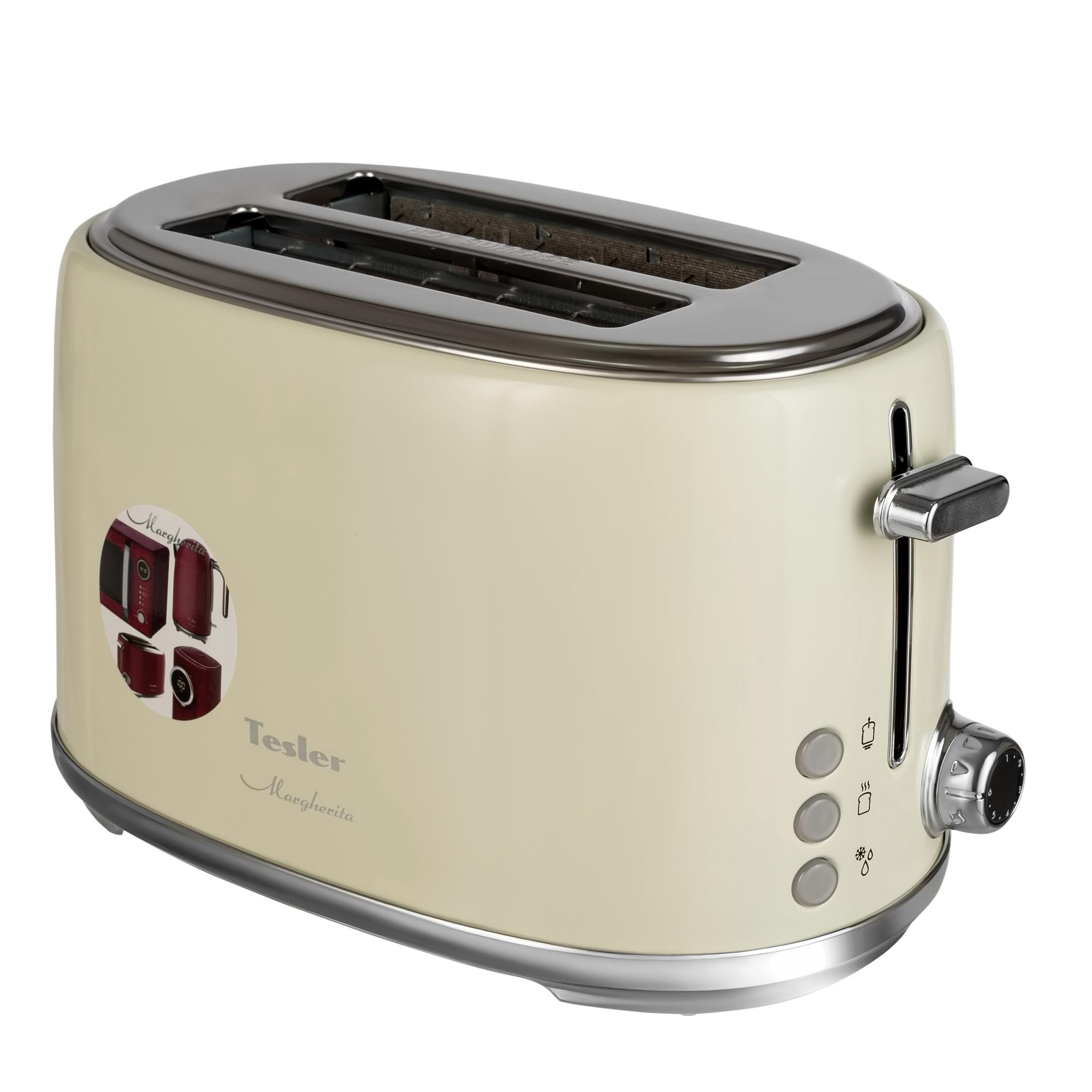 Тостер Tesler TT-255 Beige, бежевый 900 Вт, 6 режимов, электронное управление морозильник tesler rf 90 белый