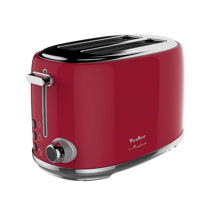 Тостер TESLER TT-255 RED, 900 Вт., 6 режимов, электронное управление, красный морозильник tesler rf 90 белый