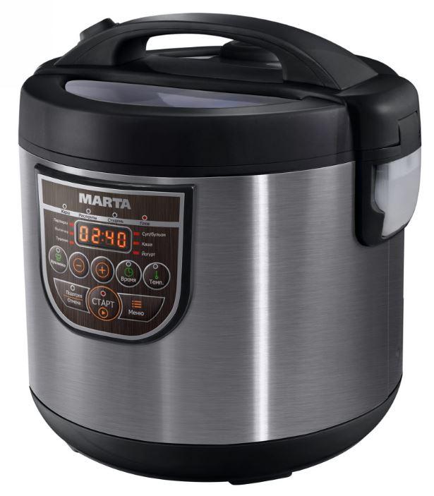 Мультиварка Marta MT-4323 черный жемчуг 860 Вт 5 л мультиварка marta mt 4324 ns черный жемчуг