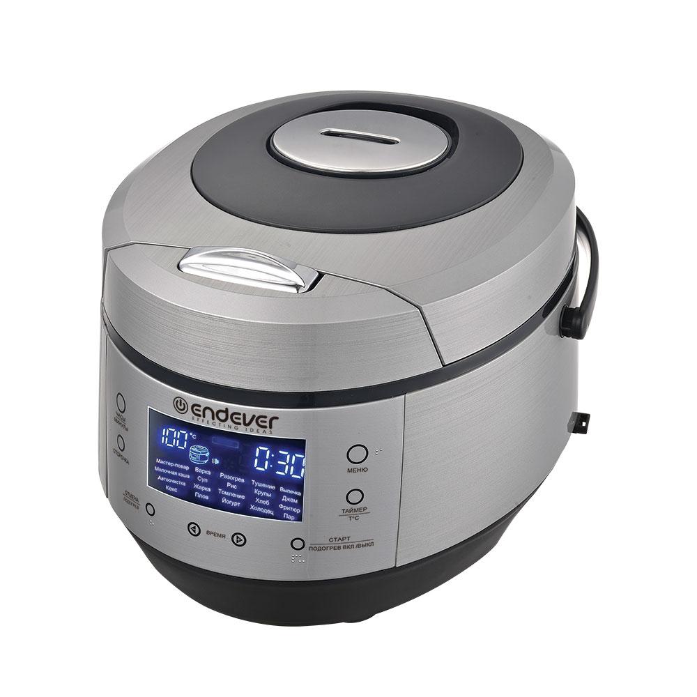 Мультиварка Endever Vita-120 стальной/черный 900 Вт, чаша 5 л, 20 программ, таймер 24 ч