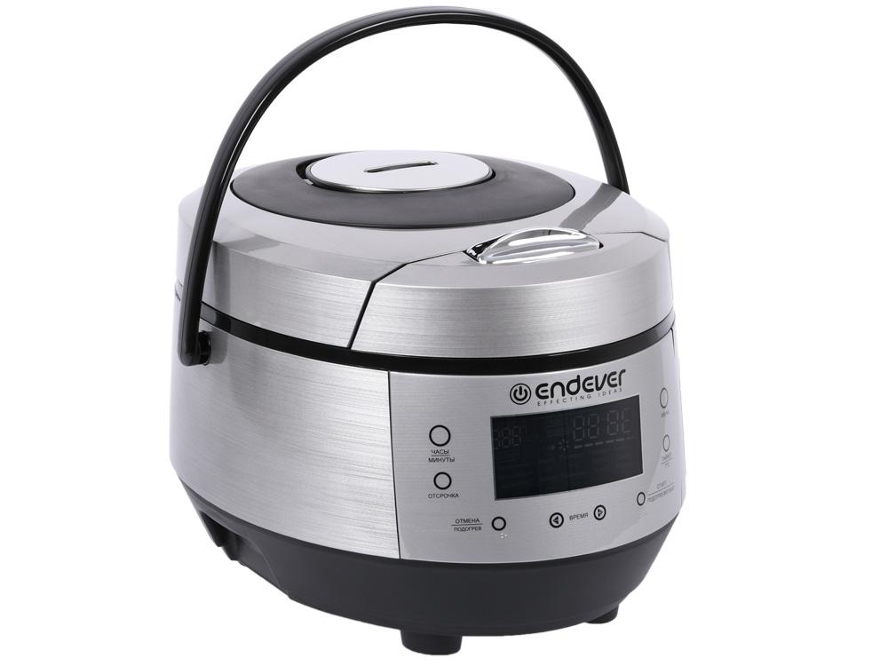 Мультиварка Endever Vita-120 стальной/черный 900 Вт, чаша 5 л, 20 программ, таймер 24 ч фото