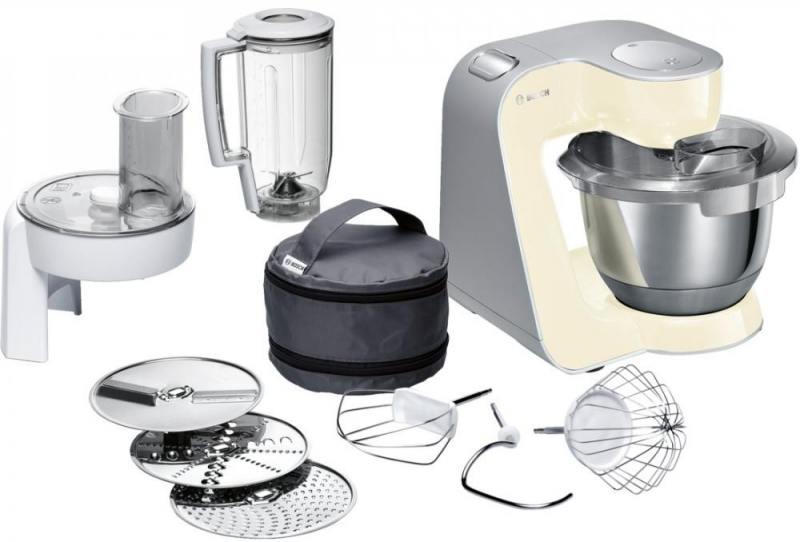Кухонный комбайн Bosch MUM58920 серебристо-ванильный цена 2017