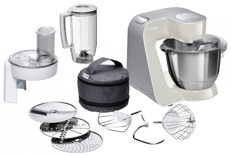 Кухонный комбайн Bosch MUM58L20 серебристо-серый цена 2017