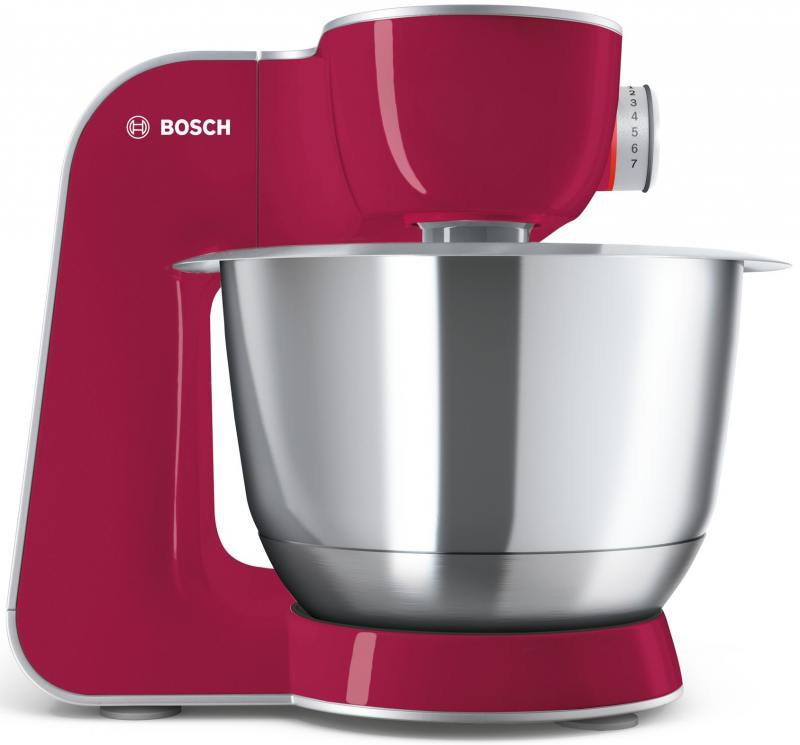 Кухонный комбайн Bosch MUM58420 серебристо-розовый цена 2017