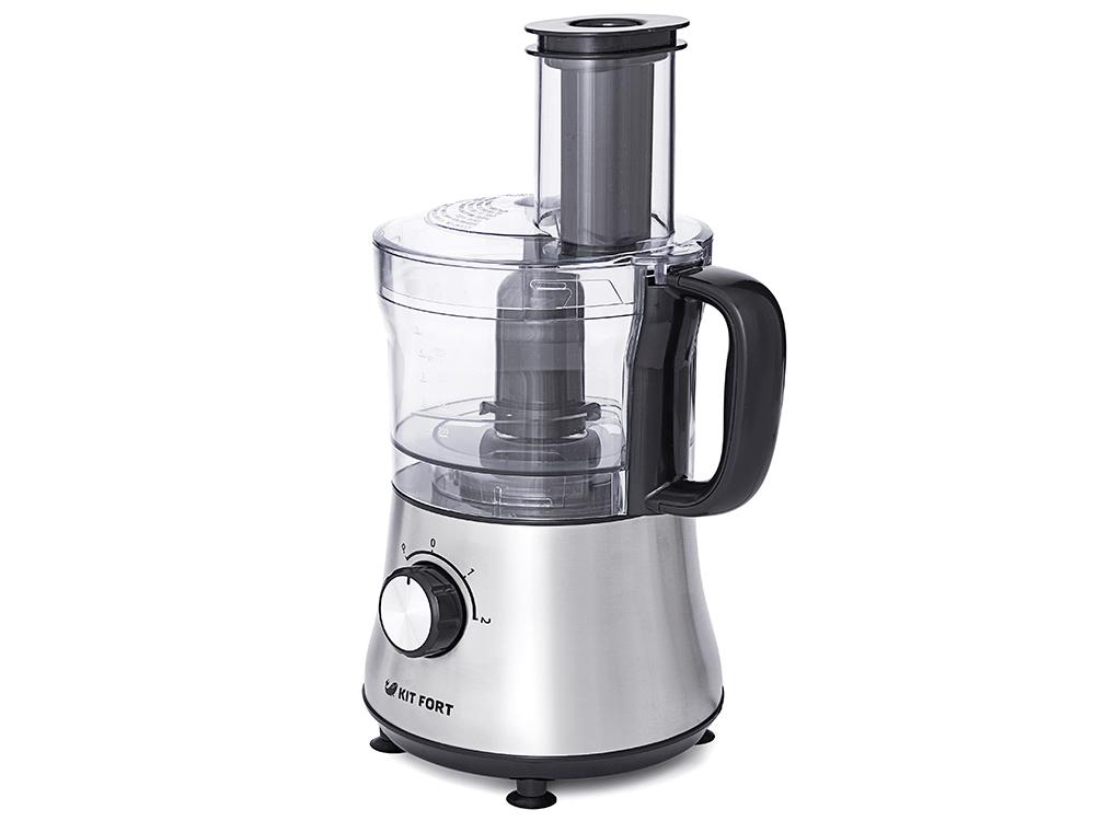Кухонный комбайн Kitfort КТ-1320, 500Вт, серебристый цена