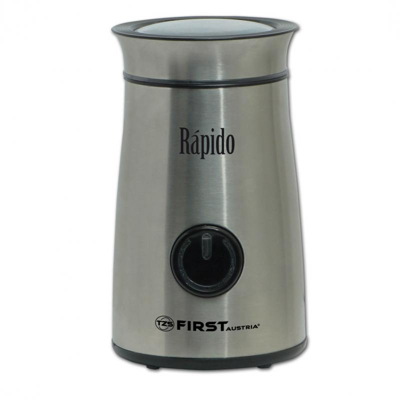 Кофемолка First FA-5485-3, 150Вт, стальной кофемолка first fa 5485 1 bw