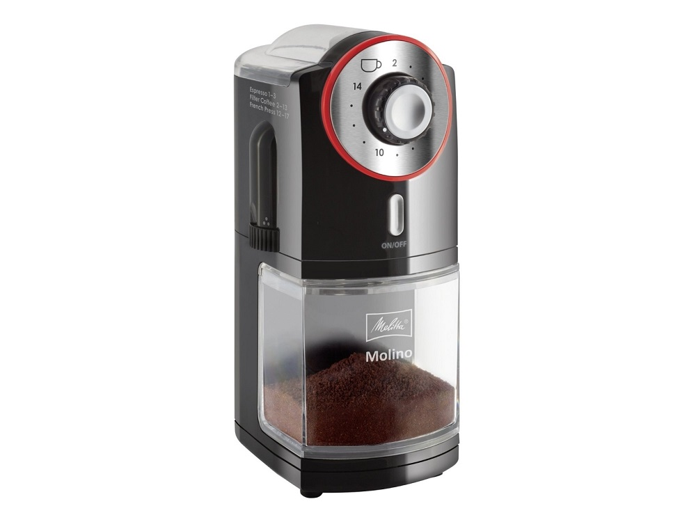 Кофемолка Melitta Molino черный 21295 100 Вт, 200 г цена и фото