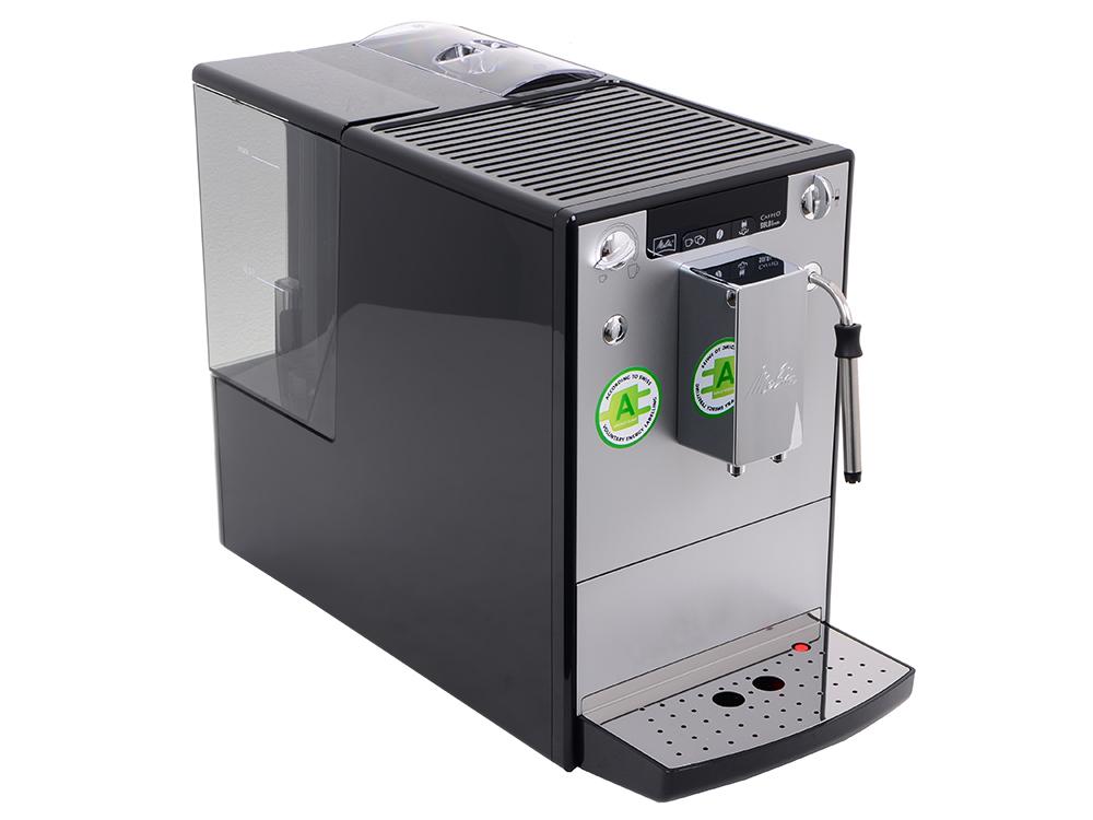 лучшая цена Эспрессо-кофемашина MELITTA CAFFEO Solo&milk, автомат, капучино, д/зернового, регул. помола и крепости, самоочистка, на 2 чашки, серебристо-черная