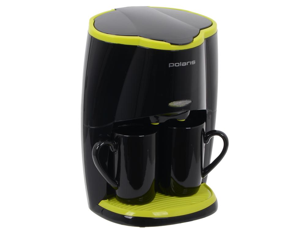 Кофеварка Polaris PCM 0210, Черный/салатовый