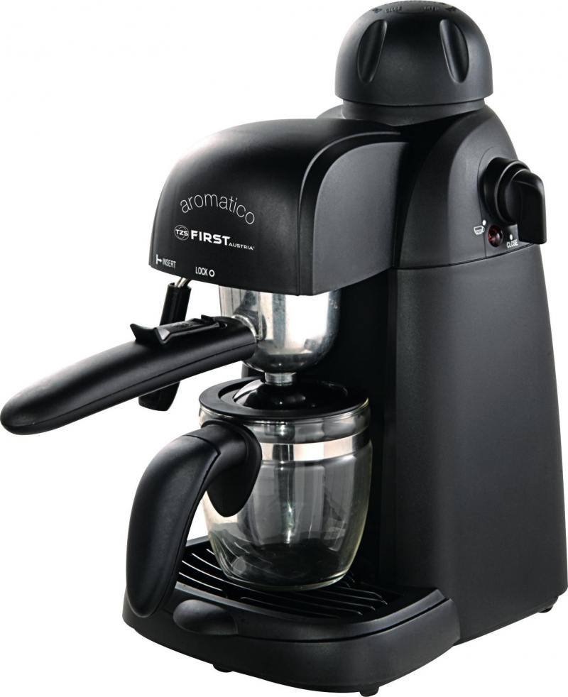 Кофеварка First FA-5475, 800Вт, эспрессо, полуавтомат, капучино, д/молотого, черный цена и фото