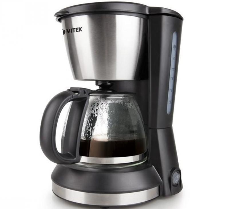 Кофеварка Vitek VT-1506 BK, капельная, д/молотого, черный vitek vt 1506 bk
