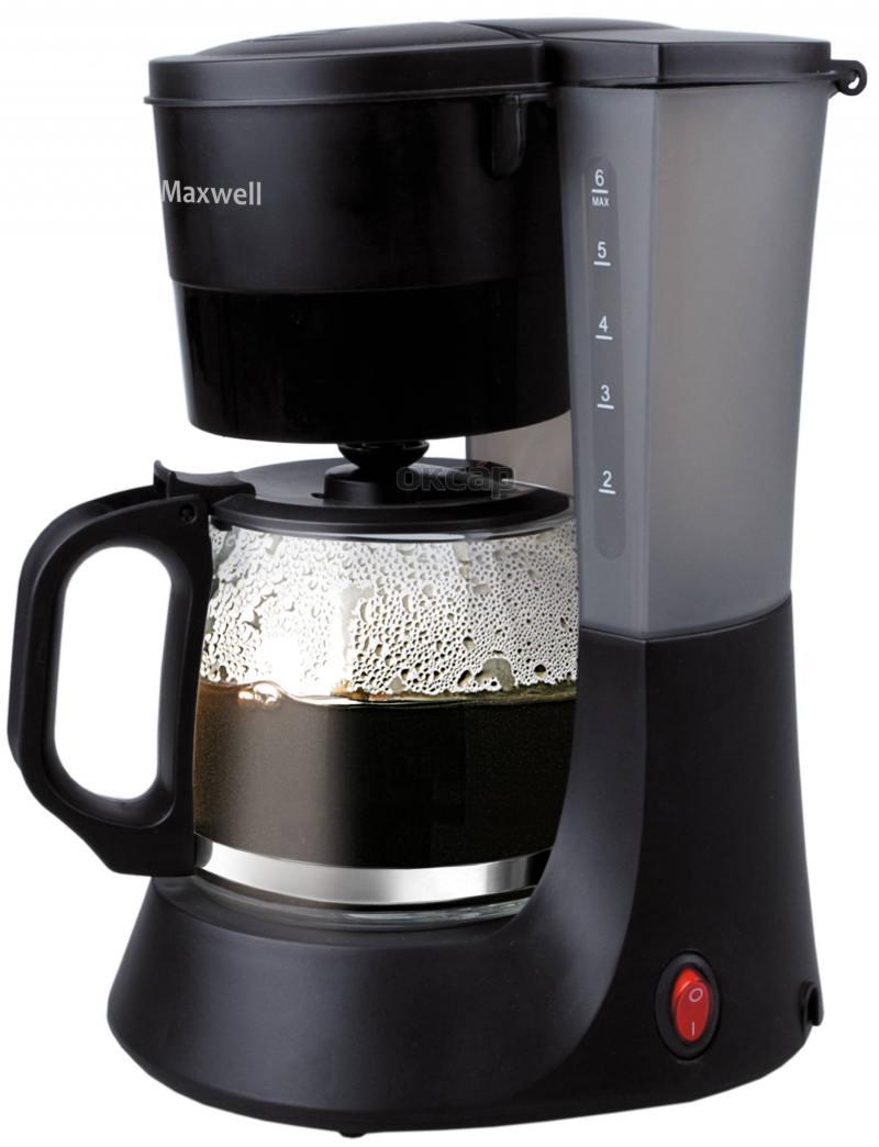 Кофеварка Maxwell MW-1650 BK черный 600 Вт, 0.6 л цена и фото