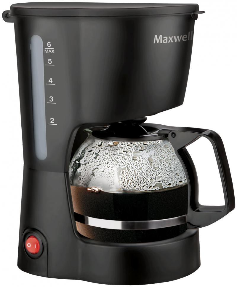 Кофеварка Maxwell MW-1657(BK) 600 Вт черный MW-1657(BK)