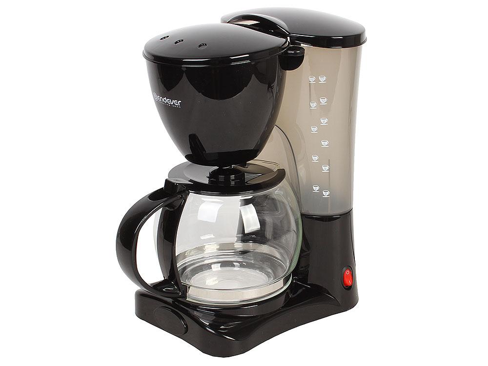 Кофеварка капельная Endever Costa-1042, черный /пластик, 900 Вт., объем 1,2 л., моющийся фильтр, поддержание тепла, противокапельная система