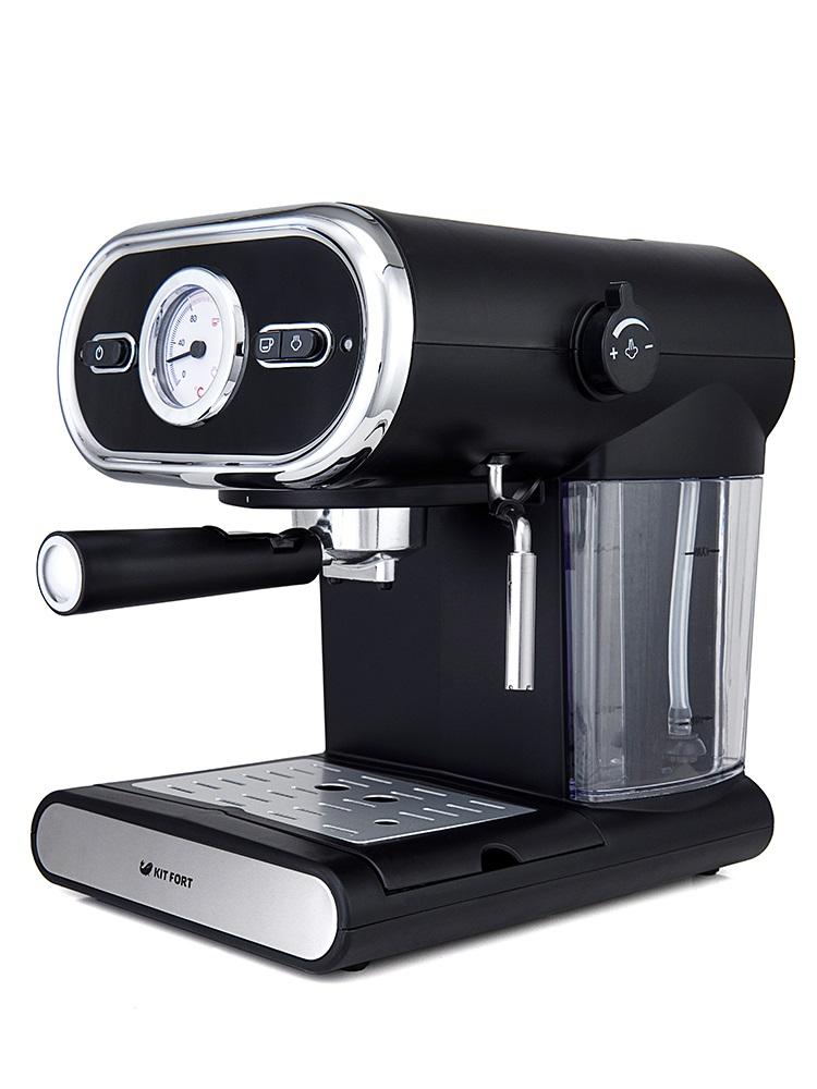 Кофемашина Kitfort KT-702, полуавтомат, эспрессо, капучино, д/молотого, черный [KT-702] цена в Москве и Питере