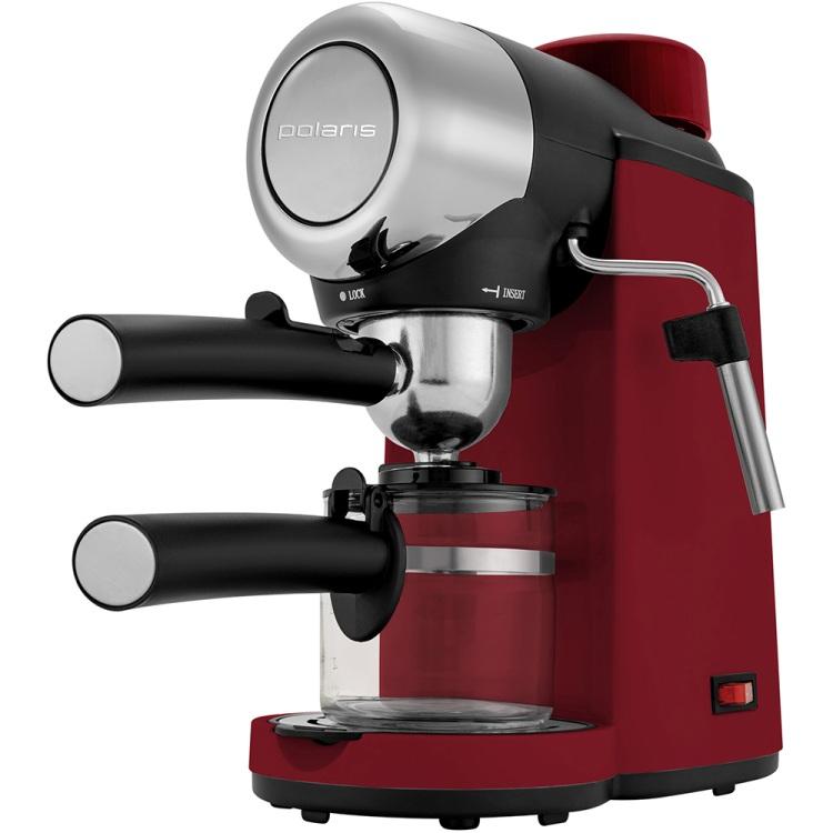Кофеварка эспрессо Polaris PCM 4007A 800 Вт красный цена и фото