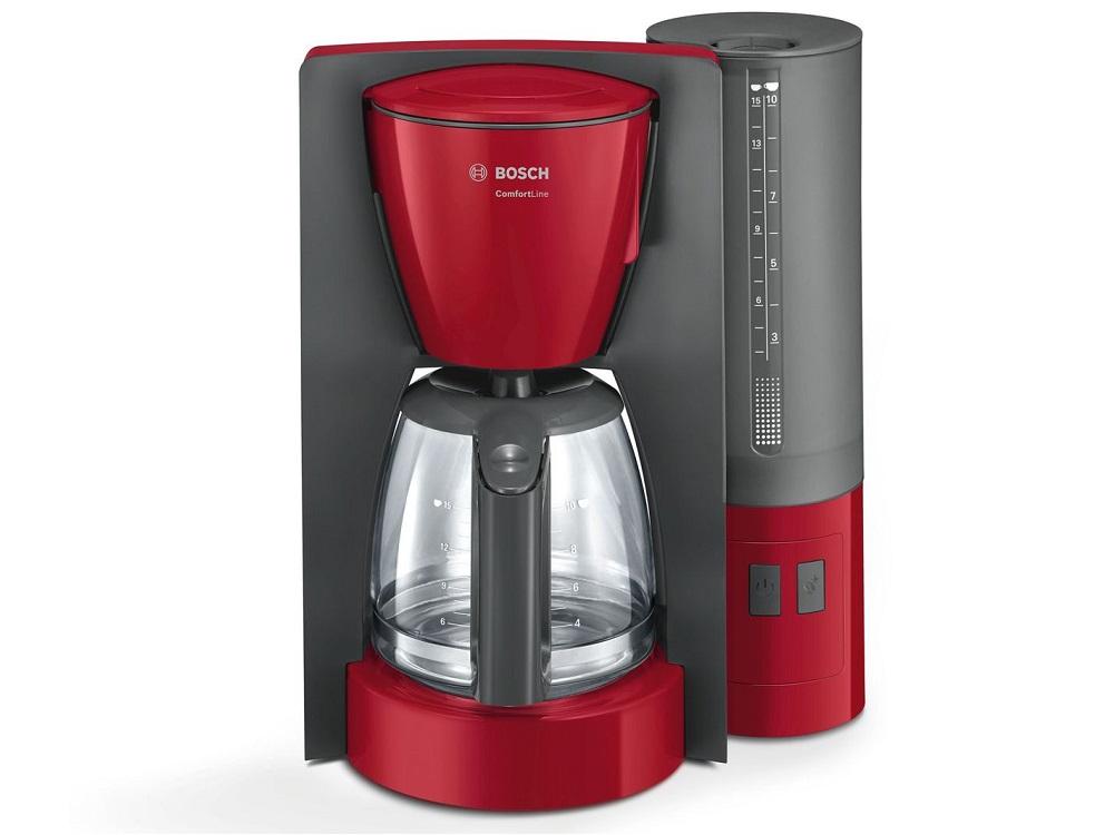 Кофеварка капельная Bosch ComfortLine TKA6A044 Red Gray цена и фото