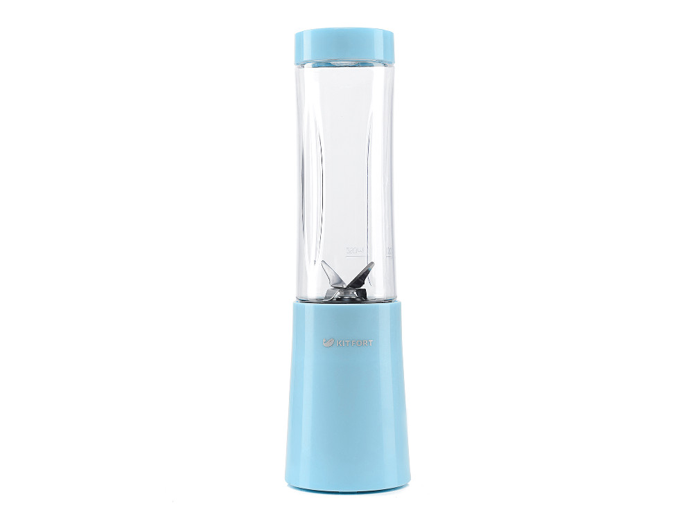 Блендер стационарный Kitfort KT-1311-2, 150Вт, голубой, [KT-1311-2] цена