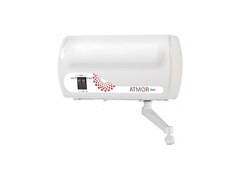 Водонагреватель проточный Atmor BASIC 5 KW TAP электрический проточный водонагреватель atmor in line 5