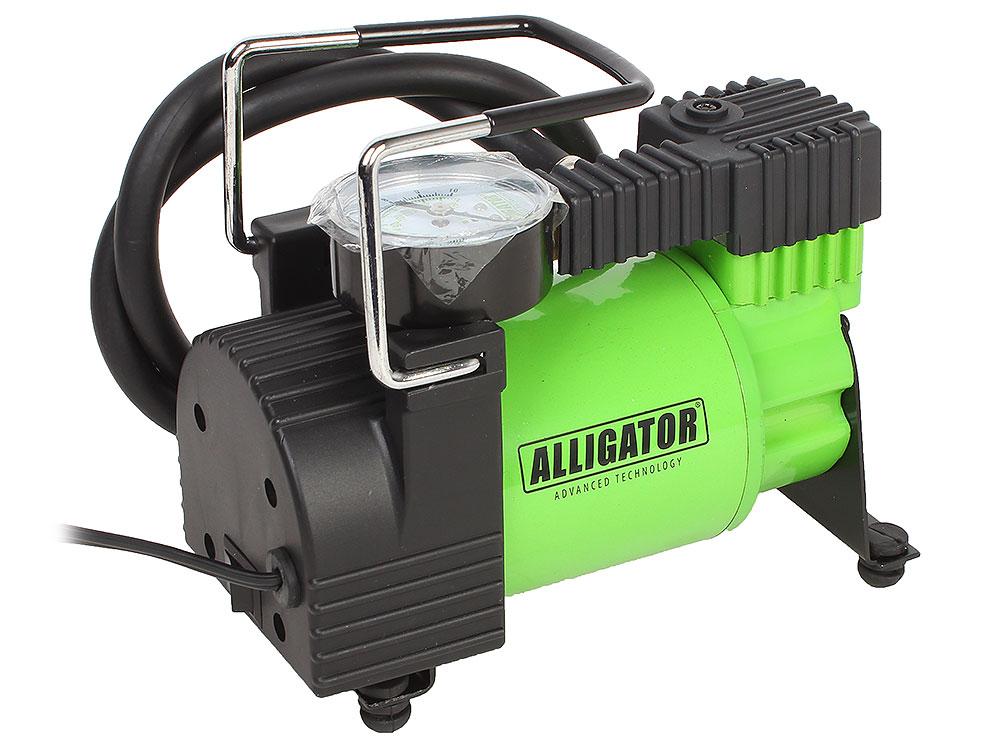 Фото - Компрессор автомобильный АЛЛИГАТОР AL-350, металлический, 12V, 120W, производ-сть 30 л./мин., переходники для накач., сумка, 1/8 trixie стойка с мисками trixie для собак 2х1 8 л
