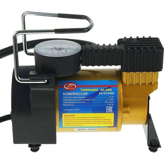 цена на Автомобильный компрессор Autovirazh Торнадо AC580 AV-010580 металл 35л/мин сумка