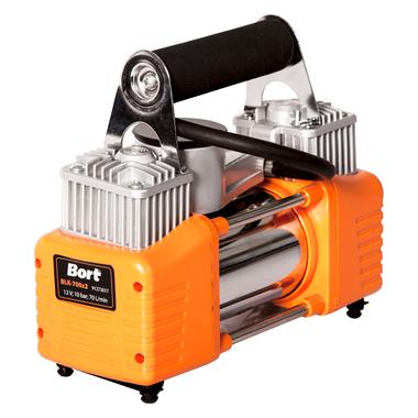 Автомобильный компрессор Bort BLK-700x2 70 л/мин, 10 бар, 12 В, 200 Вт, 4000 об/мин
